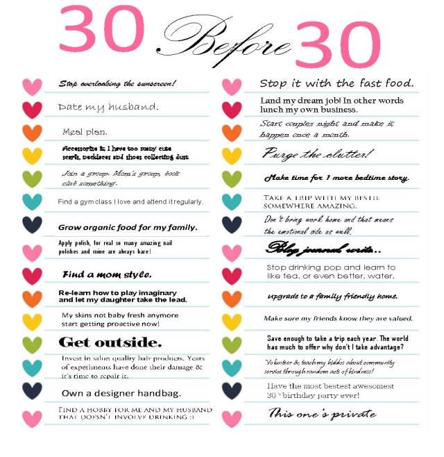30 list